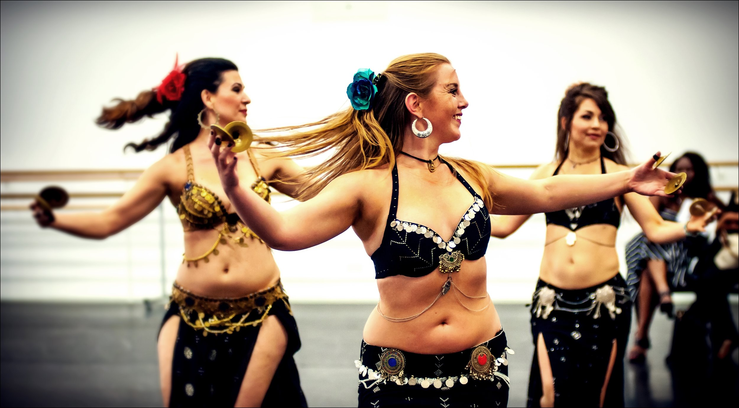 Sabriye Tekbilek, Maria Oriental and Ülku - Belly Dance at the Salimpour Tribute Show. London, June 2015.  Photo: Patrick Lim