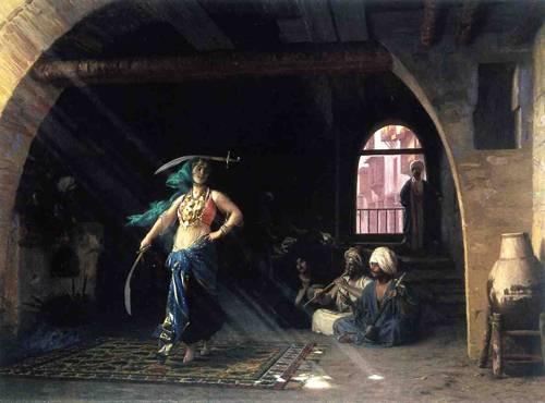 Målning av Jean-Léon Gérômes som inspirerade Jamila till att dansa med svärd.