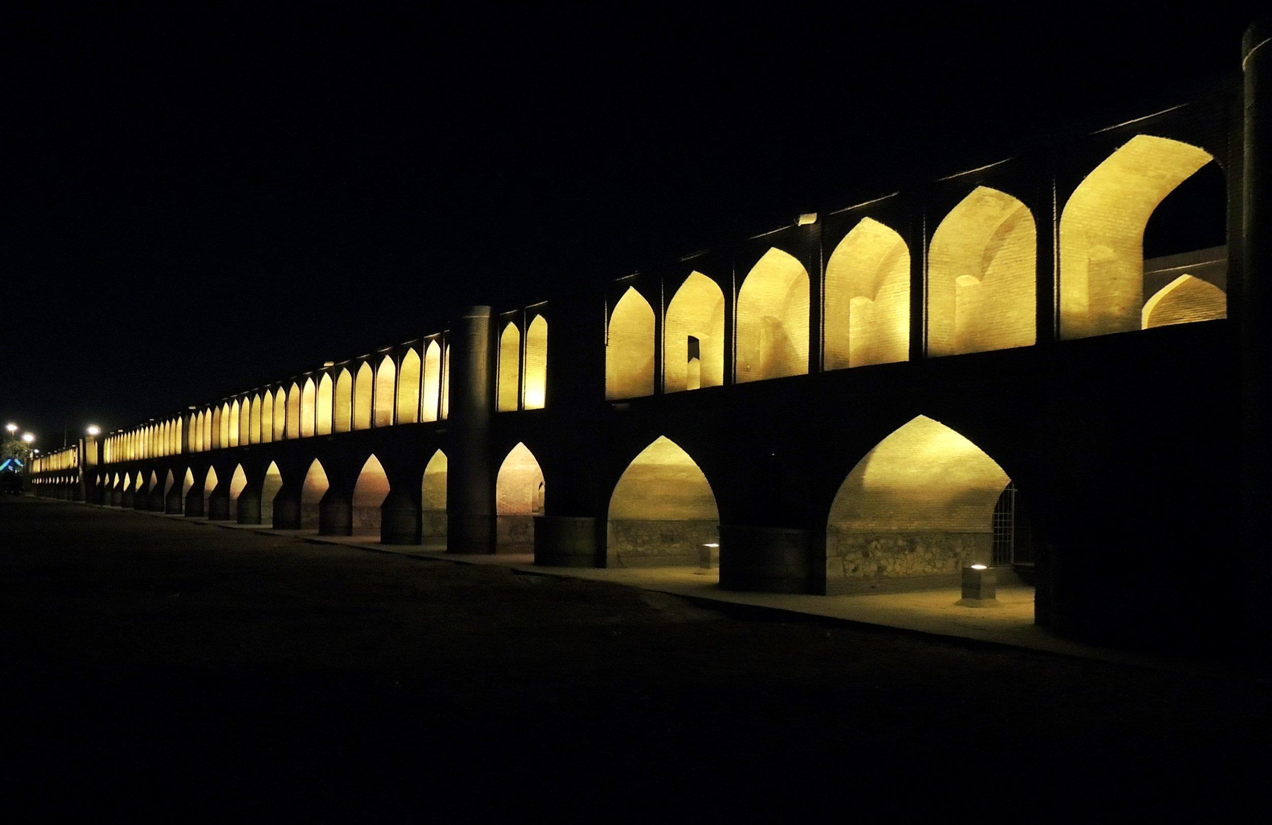 """Pol-e Khaju """"The Brigde of the 33 arches""""."""