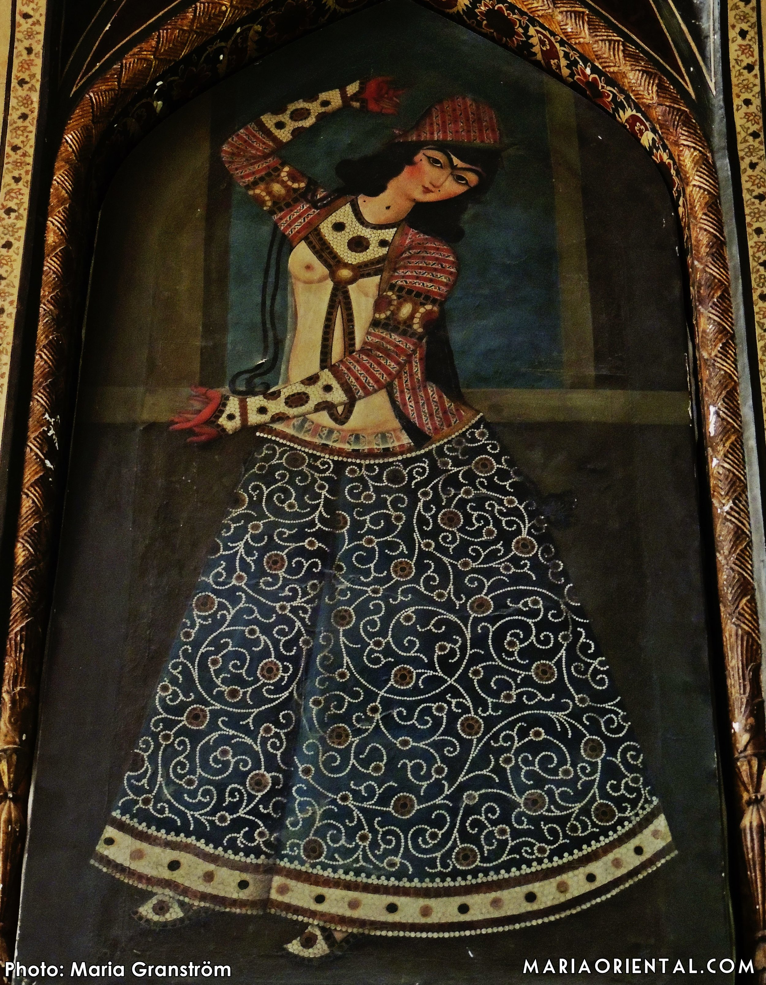Painting at the Shiraz museum.