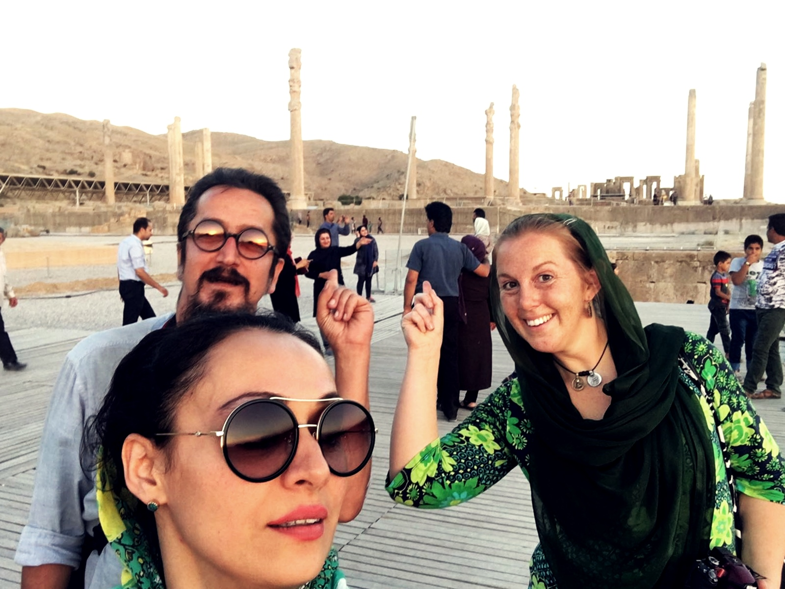 Outside of Persepolis.
