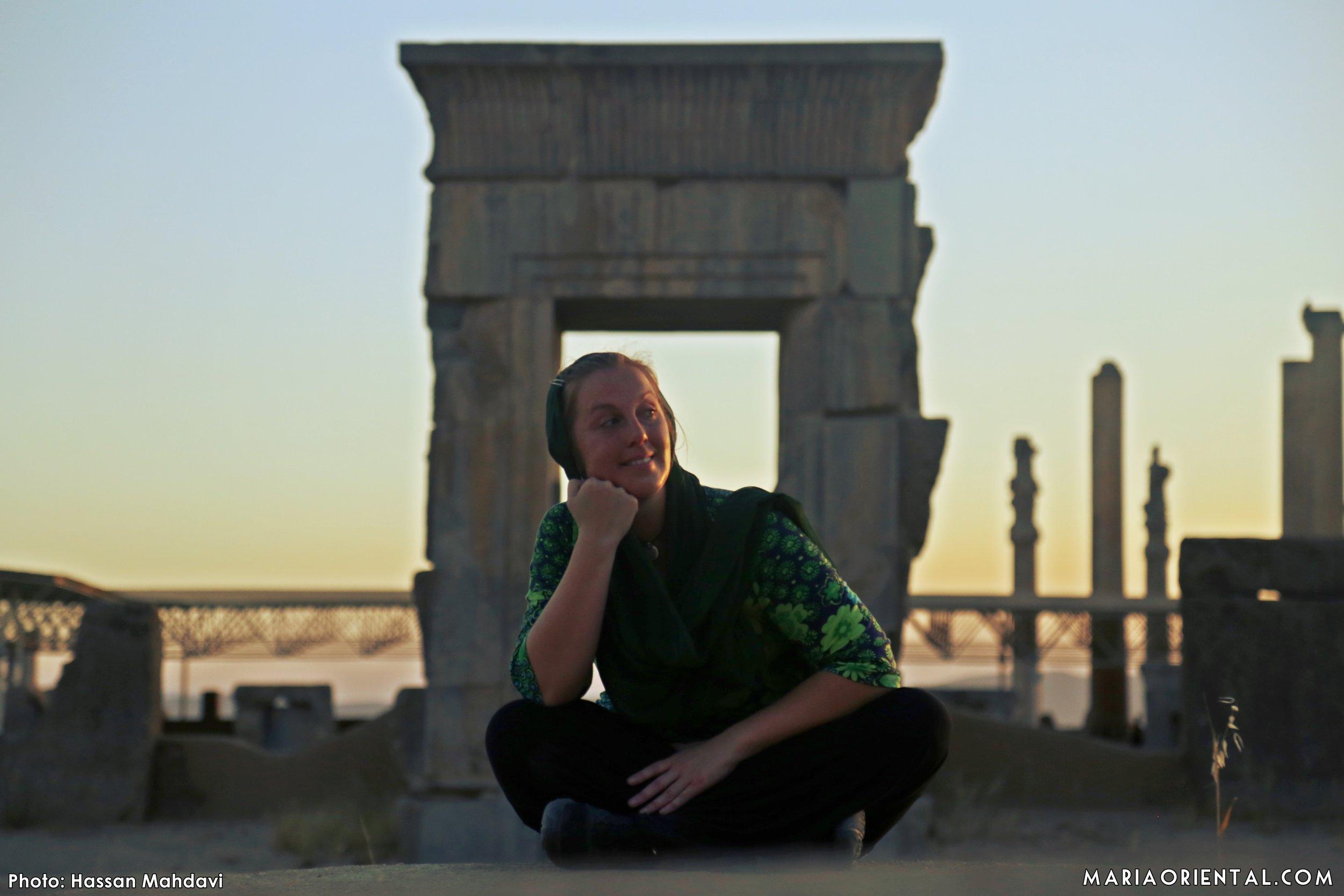 Solnedgång i Persepolis.