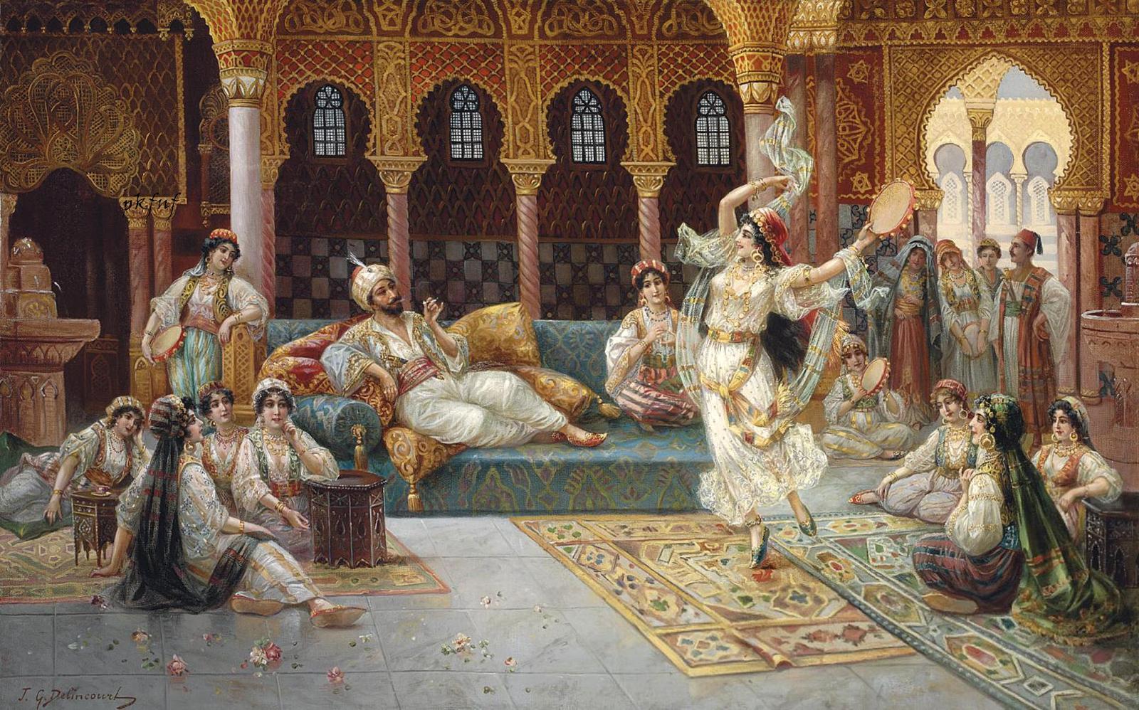 Målning av J.G. Delinourt, 1800- 1900-tal.