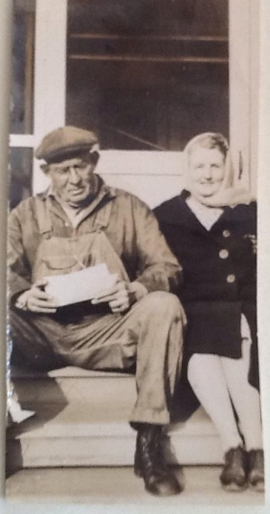My great-grandparents on their porch in Belhaven, NC