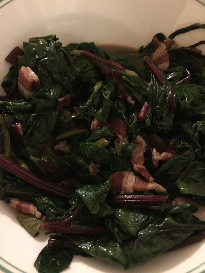 Greens made properly. In this case, chard.