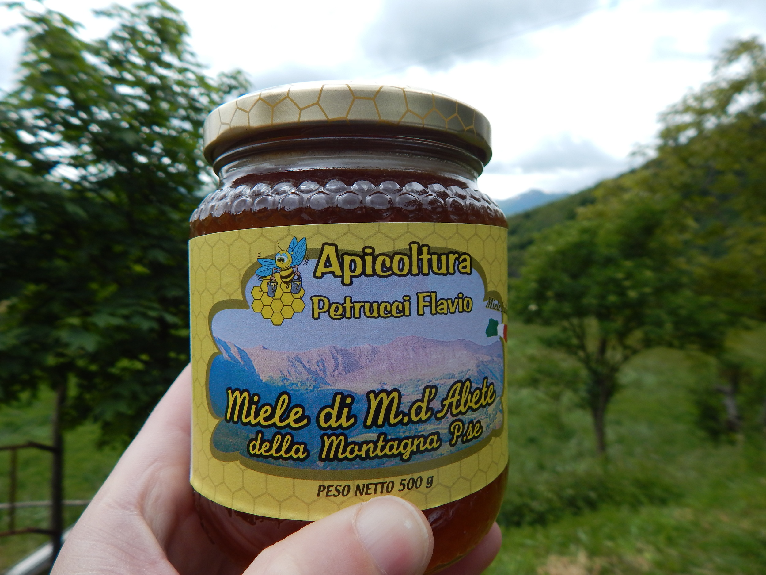 Bug Poo Honey, finest vintage, in its provenance in the Italian alps