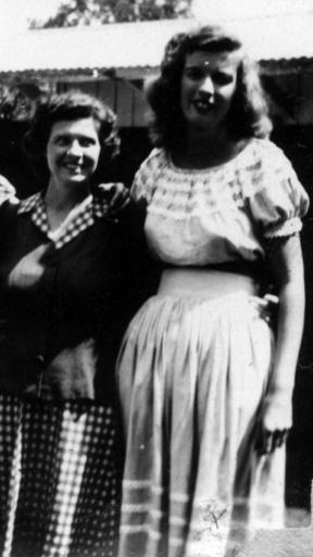 Iris (right) and my grandmother, Jesse Elizabeth
