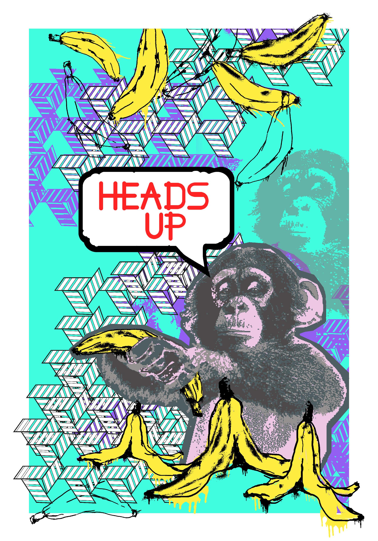 Bananas are for monkeys_70x100.jpg