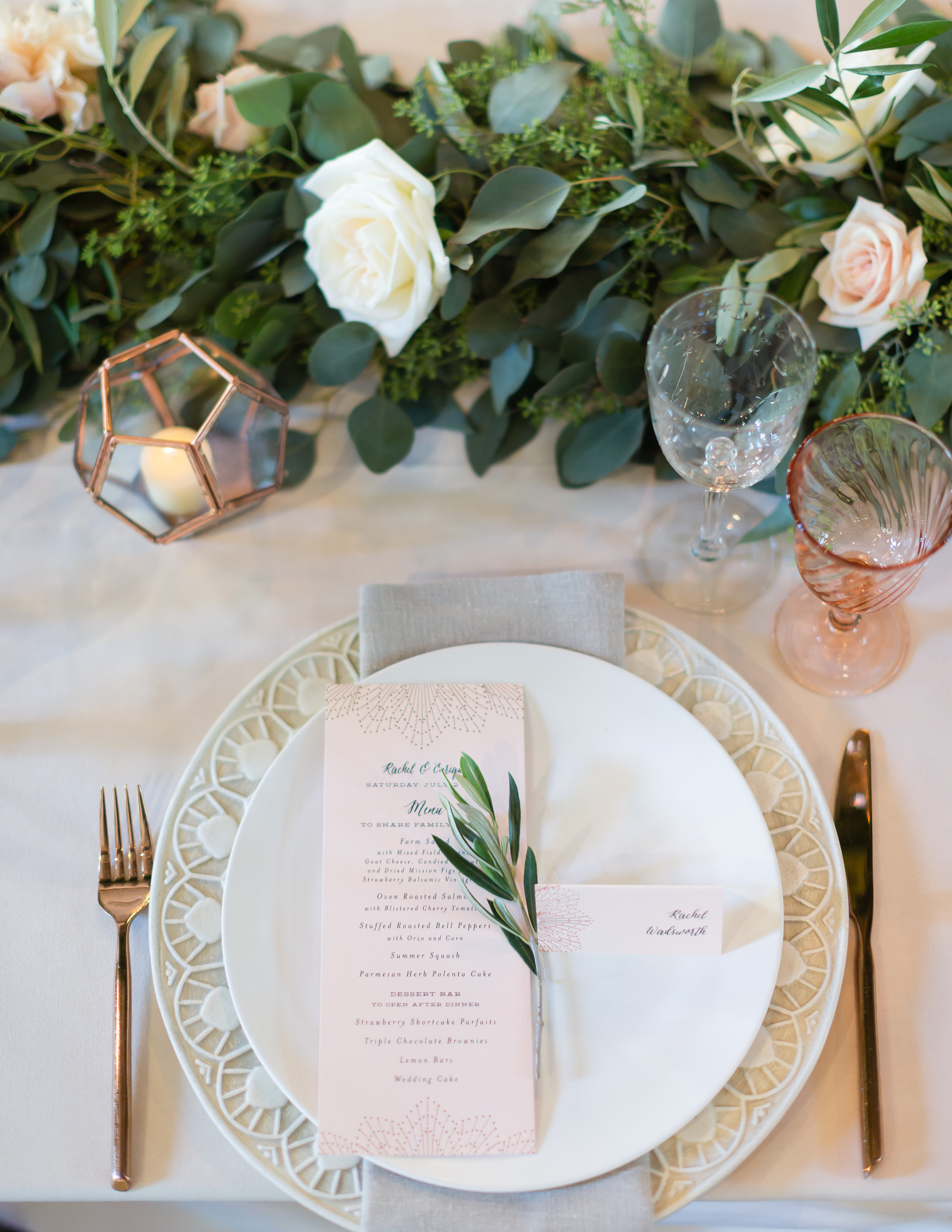 Place setting by Farm to Table Catering | Miners Foundry Wedding | Nevada City, Ca