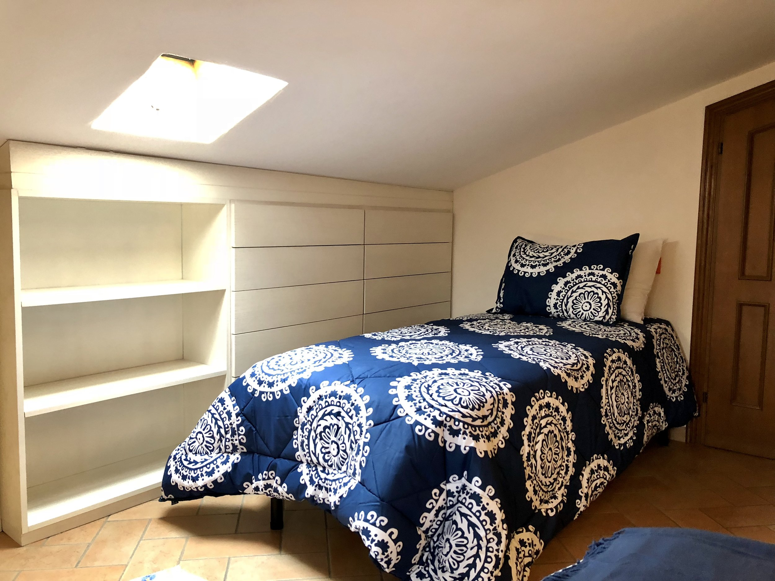 Upstairs: twin bed with trundle