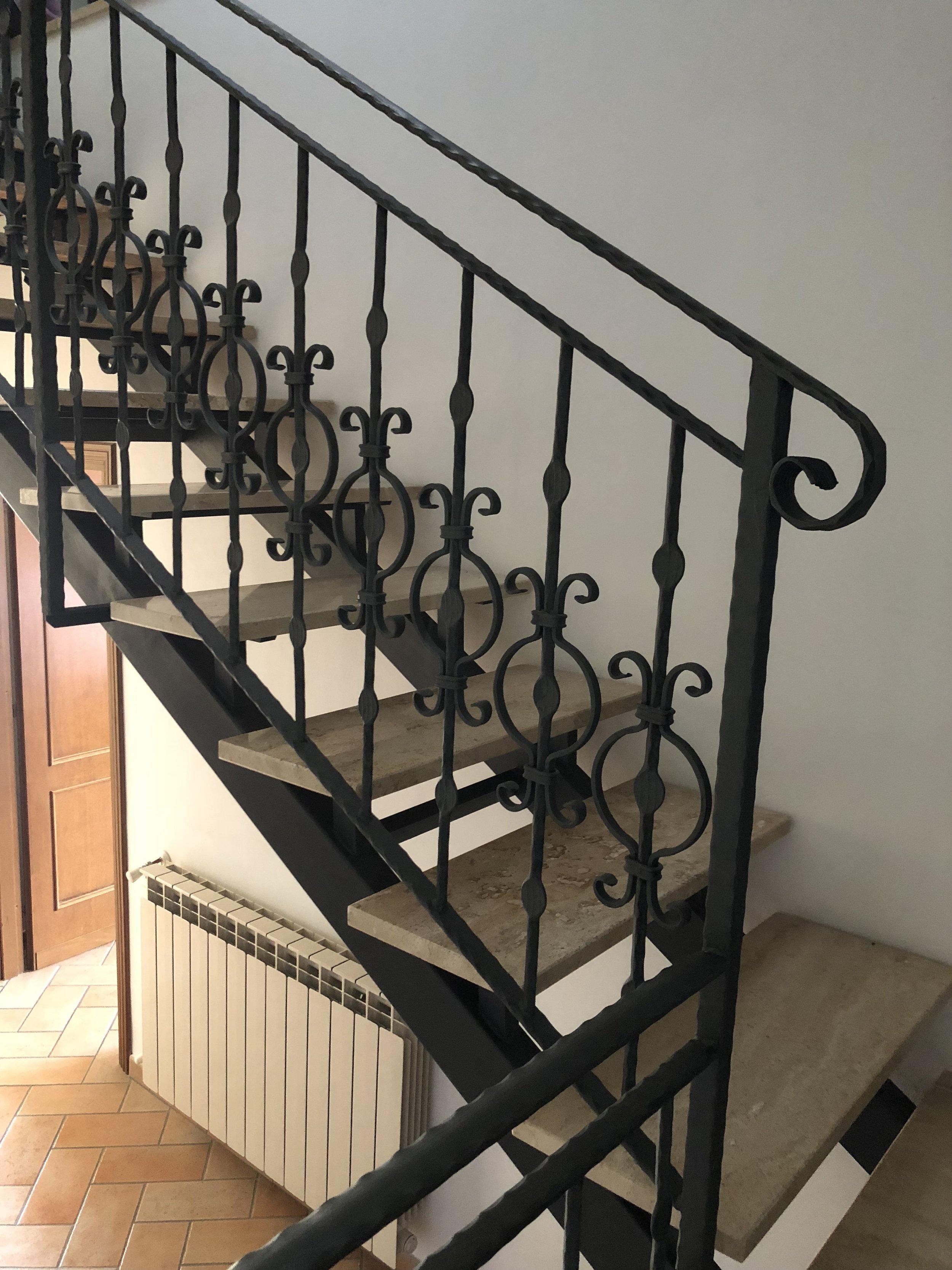 Marble + iron staircase