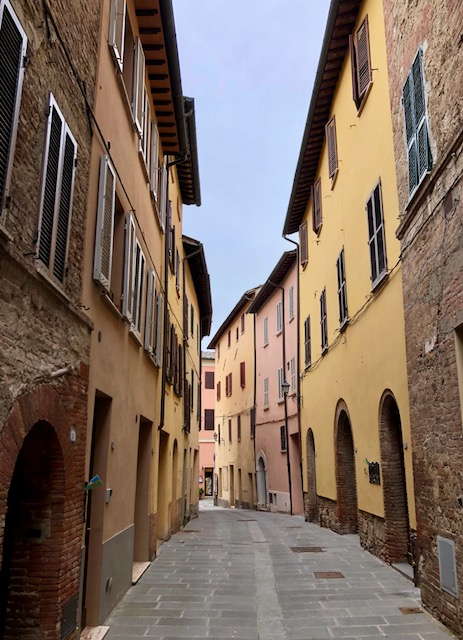 Our street: The Cathedral is at one end of the street and the main square is at the other end. It takes about one minute to walk the entire length of the street!