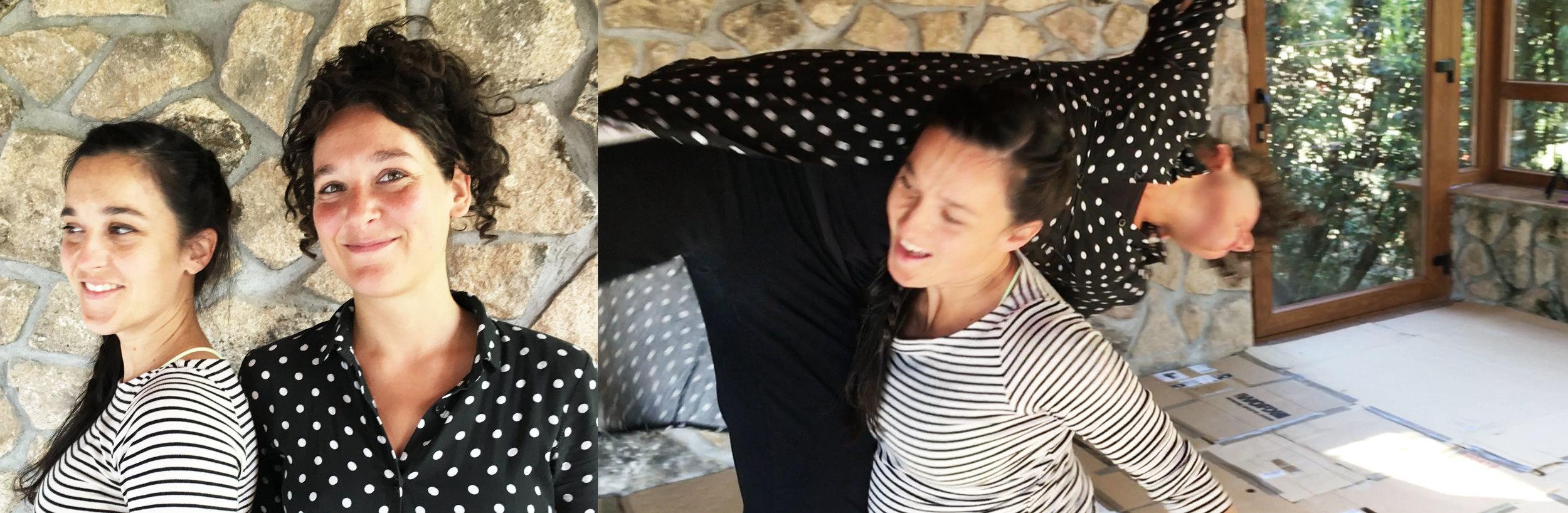 De izquierda a derecha: Lucía Sánchez y Carmen Alcalde