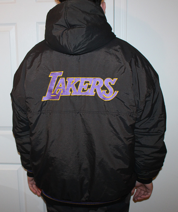 Vintage Starter Los Angeles Lakers Black Jacket Size Xl Roots