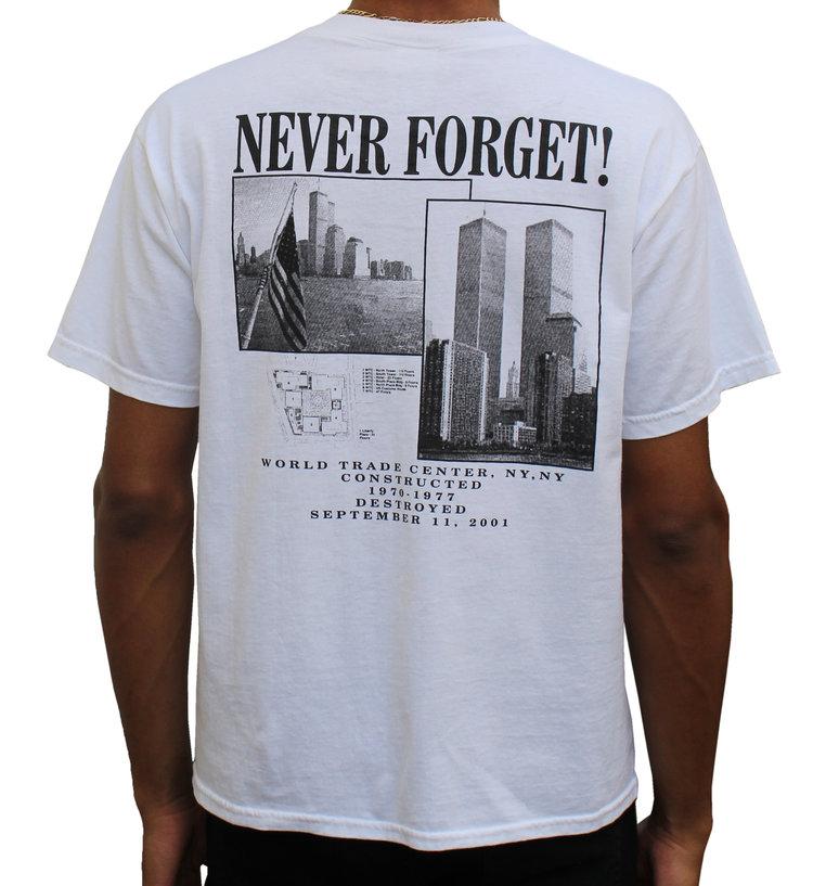 9-11 World Trade Center Never Forget T Shirt Masswerks Store