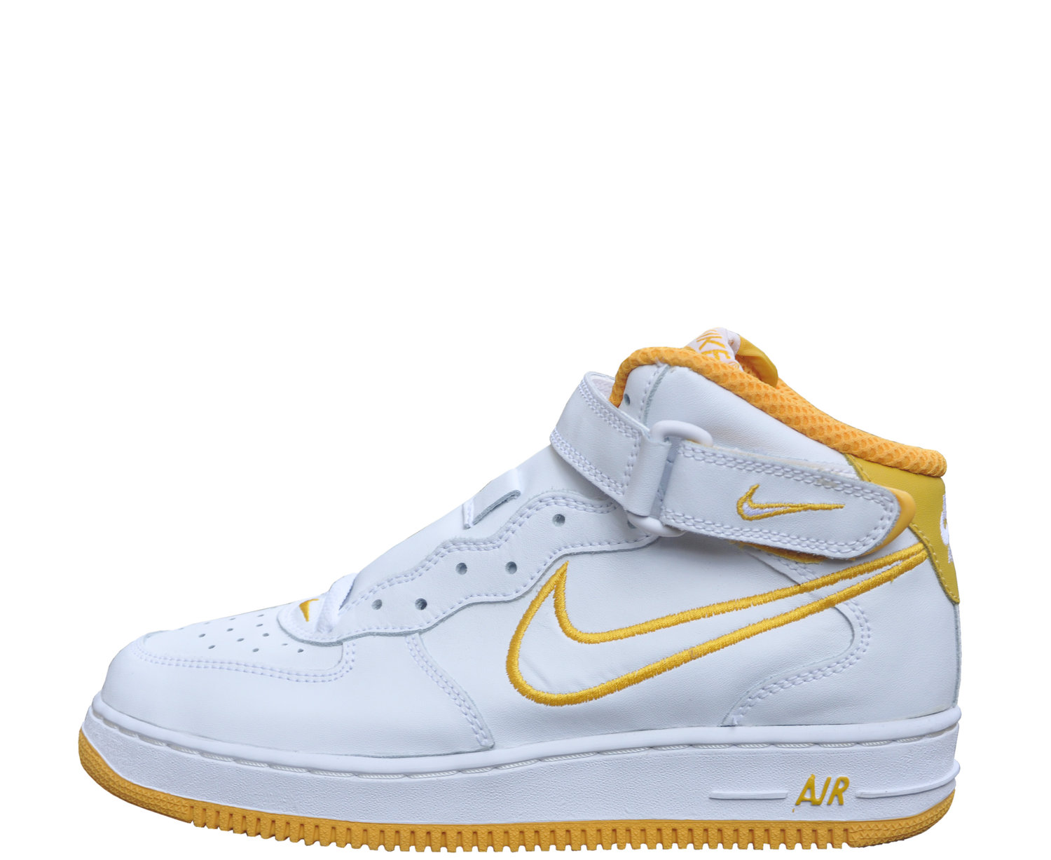 5b1b7ae5 Kids Nike Air Force 1 Mid SC White / University Gold (Size 5) DS — Roots