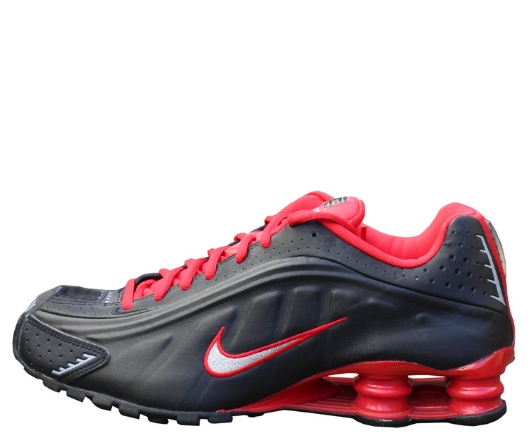 new photos ef6b2 7daee Nike Shox R4 Black / Red / Metallic Silver (Size 9) DS — Roots