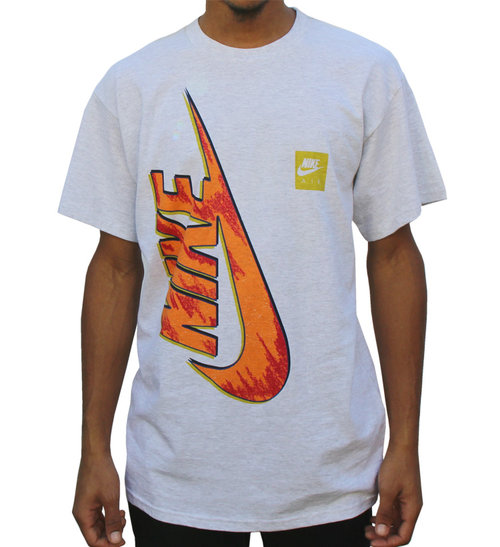 ac79aa2e47 Vintage Nike Big Air Swoosh Double Sided Heather Grey T Shirt (Size M) NWT  — Roots