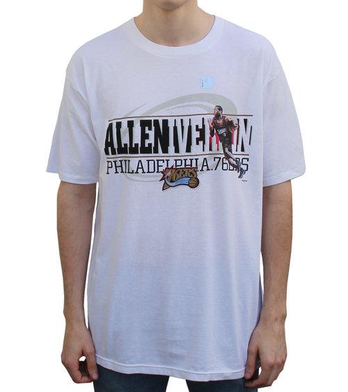 706ee9f3a2d23 Vintage Reebok Allen Iverson Philadelphia 76ers T-Shirt (Size XL) NWOT