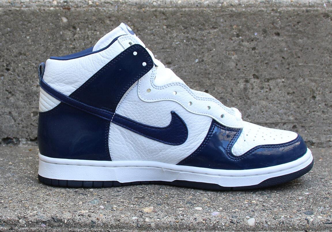 Nike Dunk High White / Midnight Navy