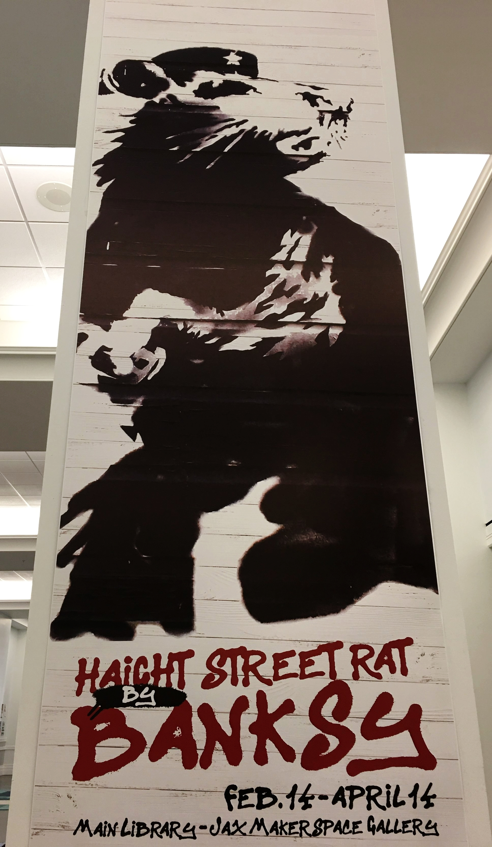 Banksy at Jax Public Library