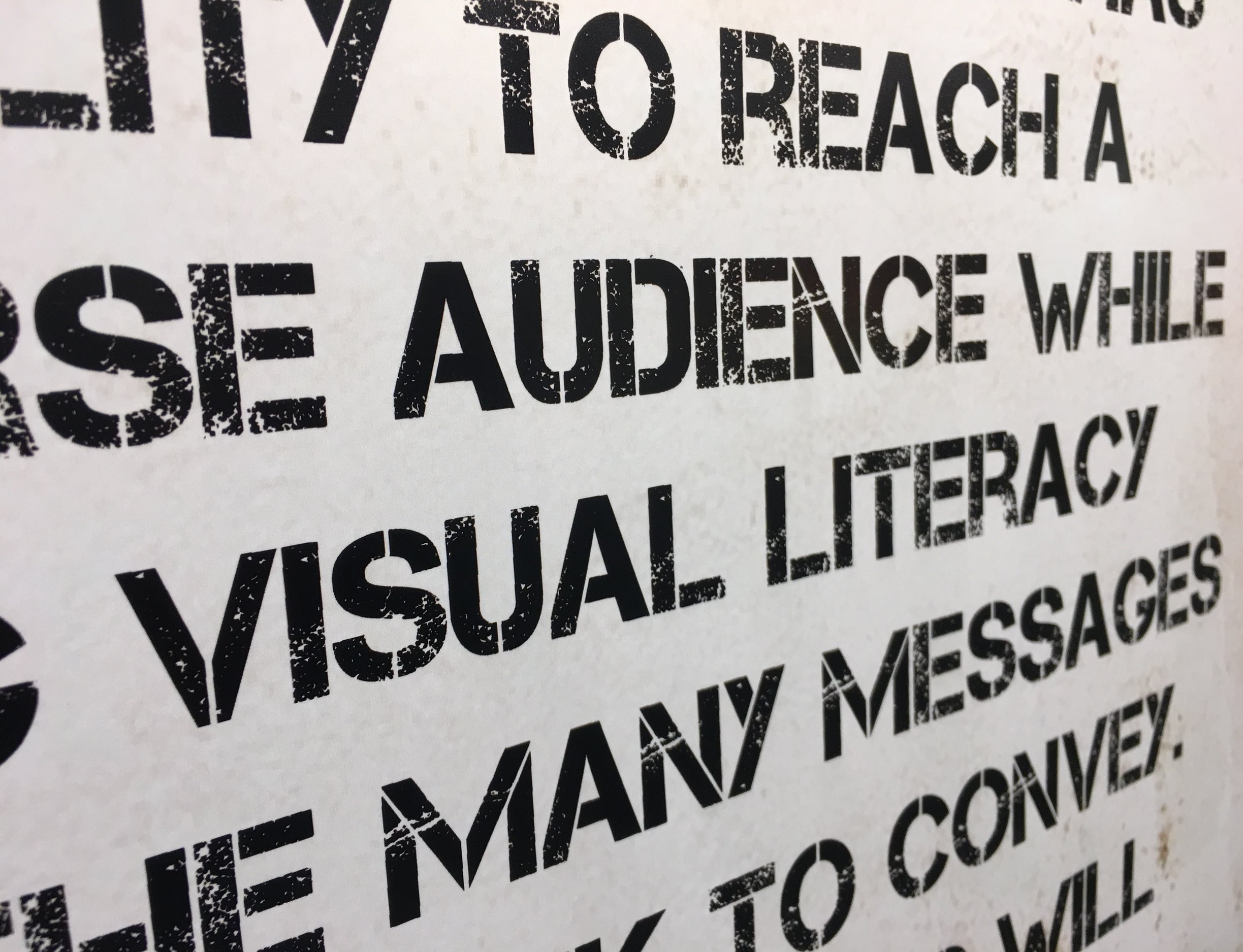 Visual Literacy... Yes. We need this so much more than we know!      (I think I smell next week's blog topic...)