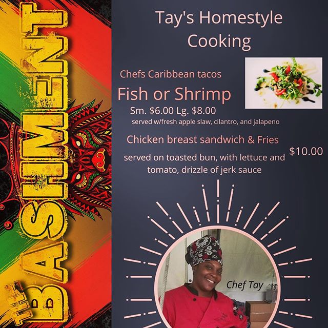 With all the dancin and drankin we'll be carrying on with this Saturday at #TheBashment, you're bound to work up an appetite. Well @TaysHomeStyleCooking has you covered! Chef Tay will be serving up delicious food specials that will keep you fueled the whole night through!  We're only FOUR DAYS AWAY from one of the dopest island fêtes in Jax! Make sure your face is in the place and bring  your crew with you!  #JaxBashment #bashment #bashmentparty #islandparty #caribbean #dancehall #dembow #salsa #samba #reggae #reggaeton #soca #vibes #duval #thingstodoinjax #weekend #dope #fete #foodspecials #dance #supportblackbusiness #vendor #tacos #chef
