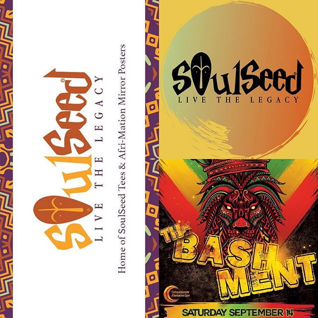 All week we've been featuring the amazing sponsors and vendors that will be at #TheBashment this Saturday, September 14th at @ShantyTownPub, and today we're highlighting the incredible #BlackExcellence that is @SoulSeedApparel - Home of SoulSeed Tees™️, SoulSeed Afri-mation Mirror Posters™️ and Nubian Goddess Rising™️! #SoulSeed will have for sale head wraps, waistbands, black soap, shea butter, earrings, oils, tees and more to promote #TheCulture and black excellence for the people... by any means necessary.  Be sure you visit SoulSeed in the back patio vending area this Saturday at The Bashment! It's going to be another dope Duval night!! #JaxBashment #bashment #bashmentparty #islandparty #caribbean #dancehall #dembow #salsa #samba #reggae #reggaeton #soca #vibes #duval #thingstodoinjax #weekend #dope #shopsmall #apparel #headwrap #oils #blacksoap #sheabutter #earrings #afrocentric #afrocaribbean