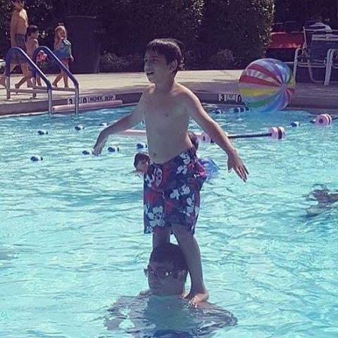This kid has skills. #summer2016 #roslynpines2016 #countingdownthedaystillsummer