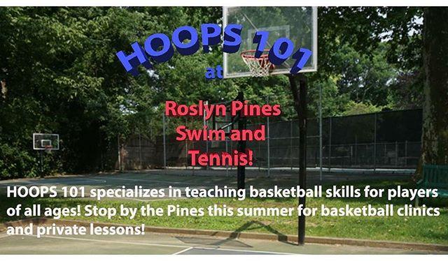 @hoops101net at Roslyn Pines Swim & Tennis Club!!! #roslynpines2016 #summer2016 #basketball #basketballislife
