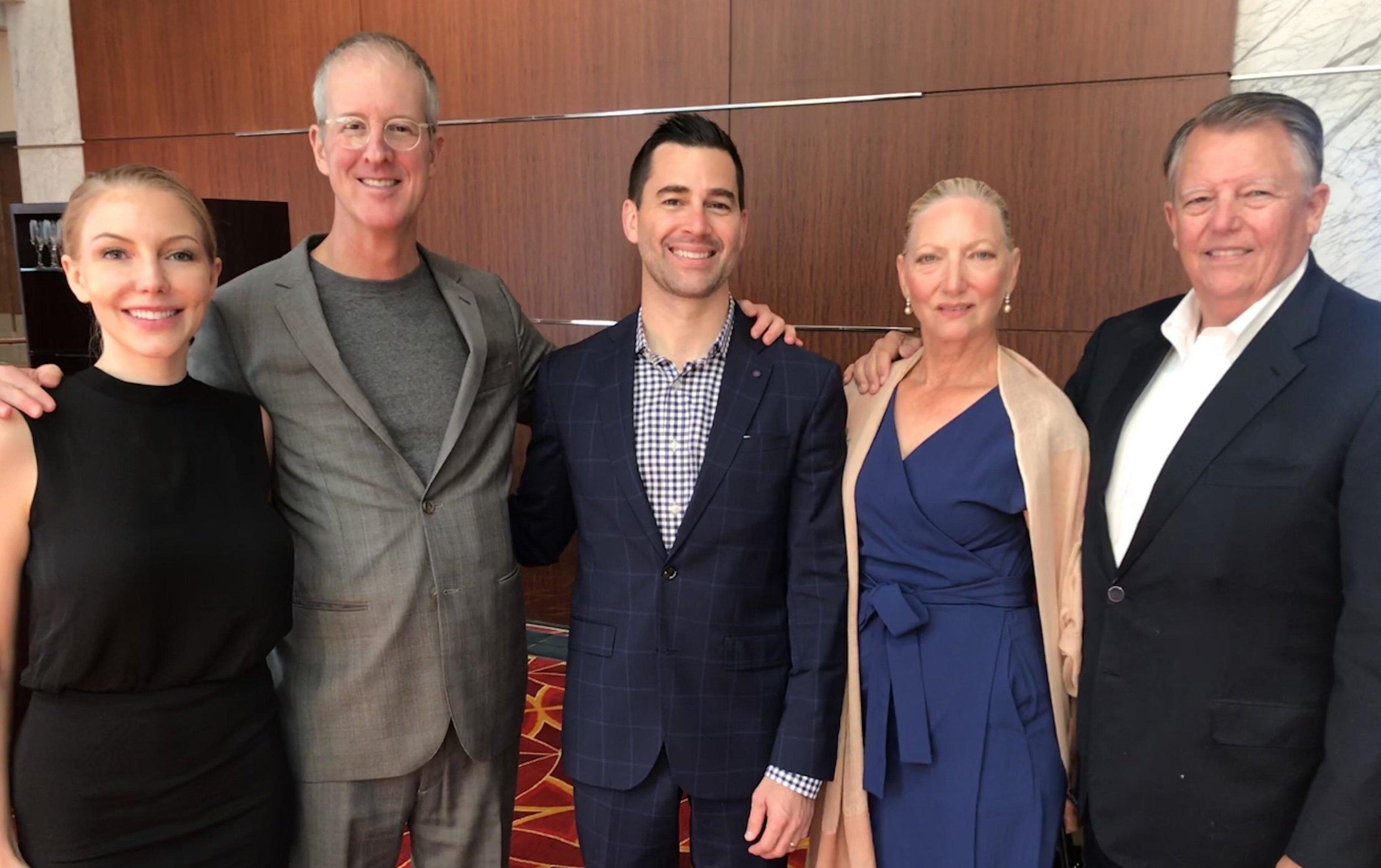 From Left: Heather Huffman (NAI), Jeff Speck (Speck & Associates), Christopher Huffman (Lafayette Land), Doris Isakson, Bob Isakson (Lafayette Land). Photo taken September 14, 2018.