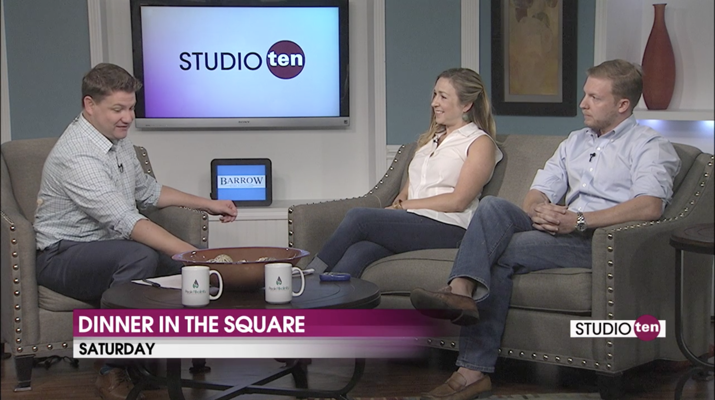 Oct. 04, 2018 - From Left: Joe Emer (Fox10 Host), Sarah Bohenstiel (President -DeTonti Square), Robert J Isakson II (President - Lafayette Land Company)