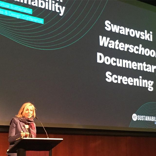 @fitnyc viewing Swarovski Waterschool Documentary screening with FIT Gala honoree, Nadja Swarovski #fitsustainability