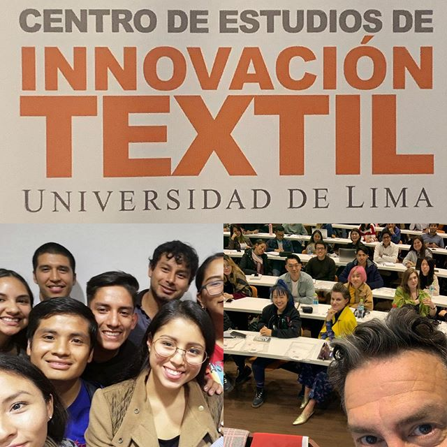 @ulimaoficial talking #sustainablefashion #responsibledesign and #classecohub with @zegrlipae and Uni de Lima fashion design and industrial design students #fitfashionmfa #perufashion