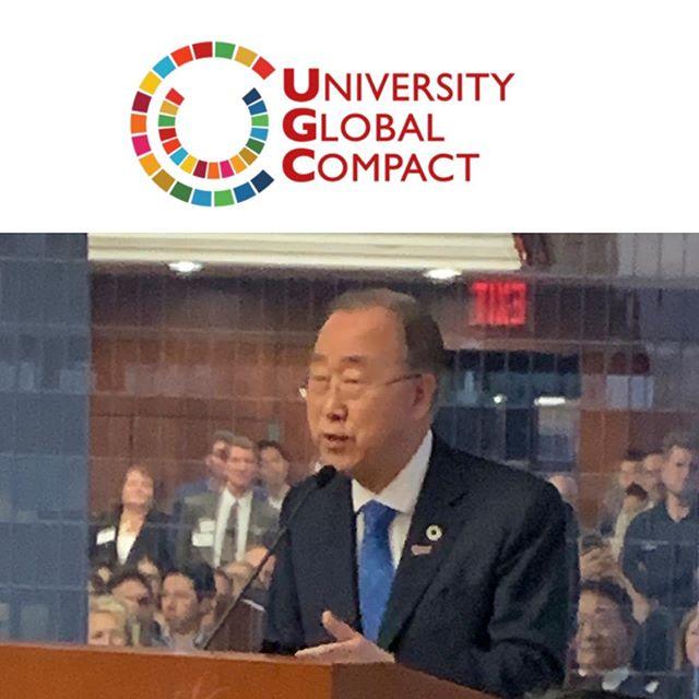 @rockefellerfdn listening to words of wisdom from Ban Ki Moon, 8th Secretary General of @unitednations - thanks for inspiring us.
