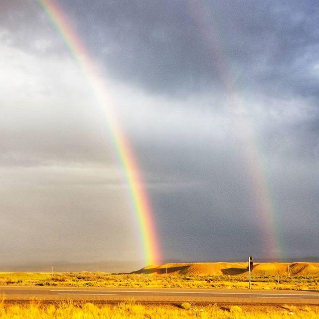 Double rainbow  #nomad #beautifulplaces #travel #travelwithme #outdooradventure #wearethewild #travelwithkids #bbctravel #travelandlife #travelblog #travelblogger #familyadventure #travelphotography #passionpassport #doyoutravel #instatravel #fujifilm • #fujifilmx100t • #x100t • #fujifeed • #myfujifeed • #fujilove • #myfujilove • #fujilovegear • #mirrorlessrevolution • #teamfujifilm • #mirrorlessphotography  #moab #rainbow
