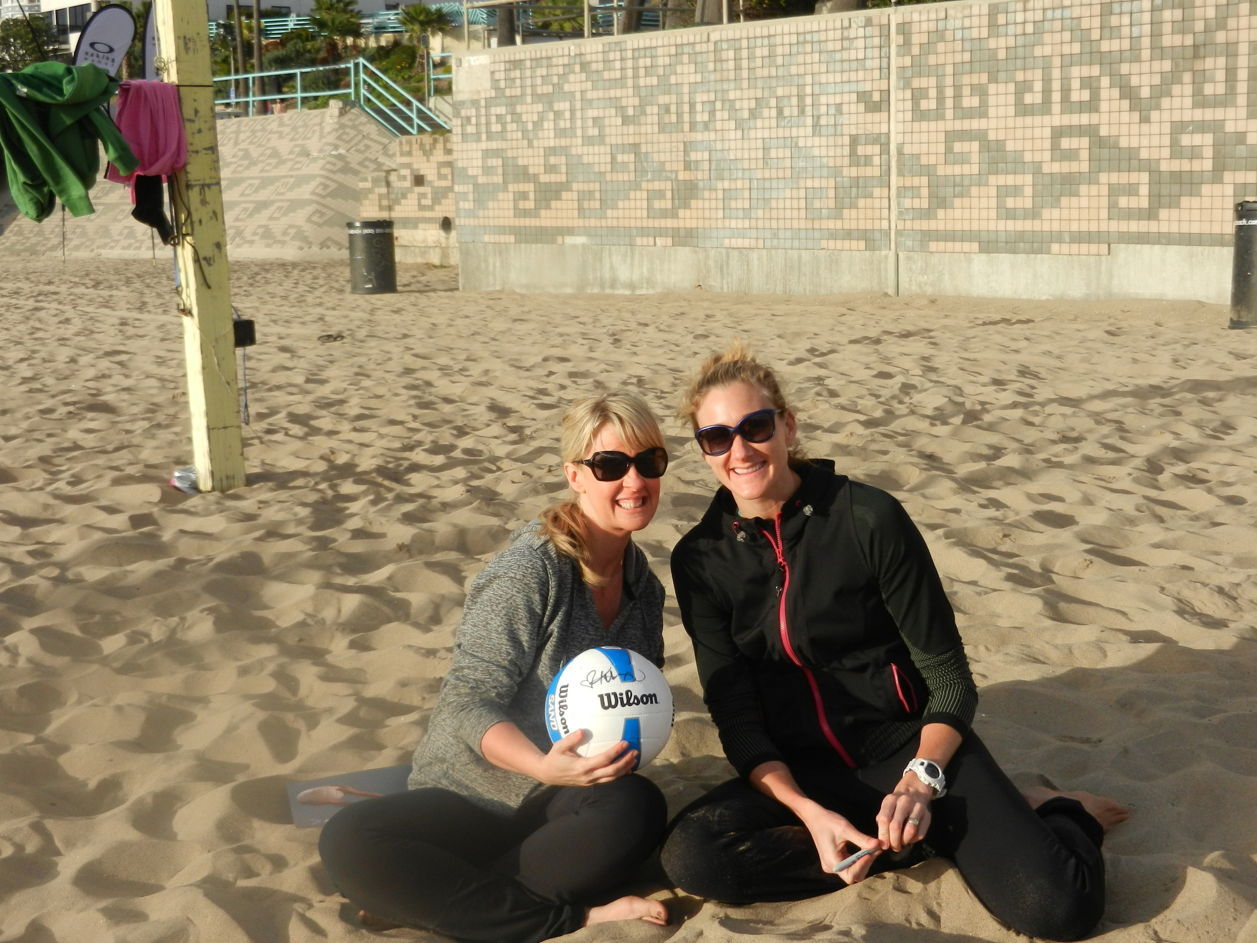 yup, that's me and yup, that's Kerri Walsh and YUP I did actually play volleyball with her. WHAT?