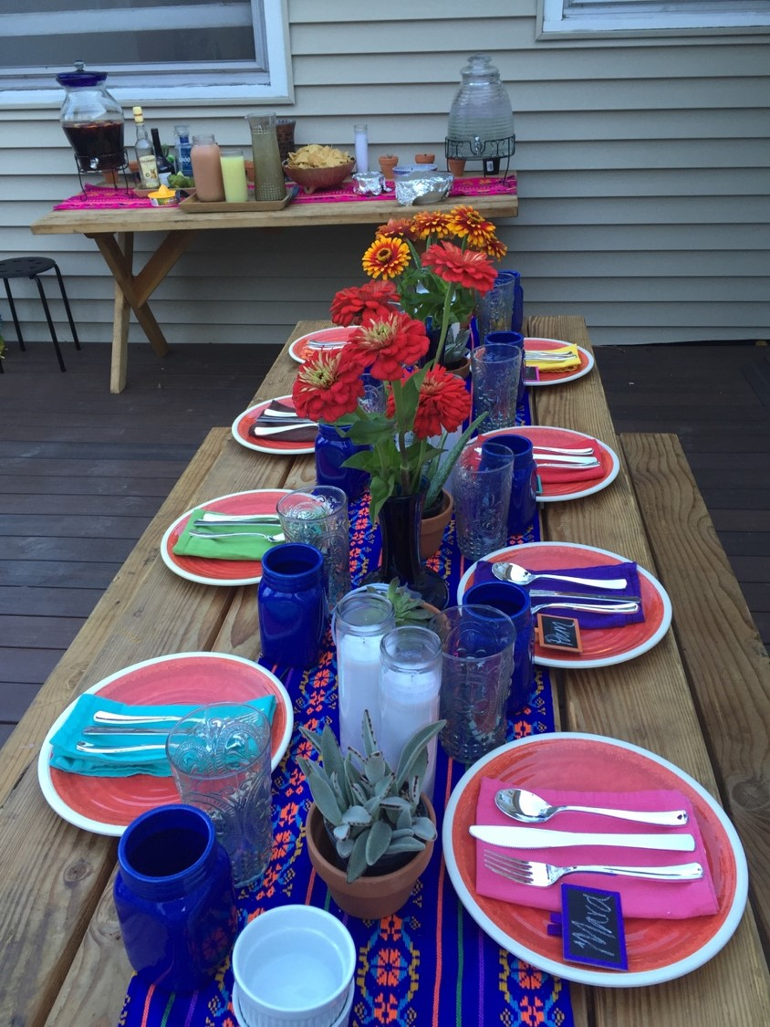 table setting view...thank goodness some of the ladies took pictures on their phones.