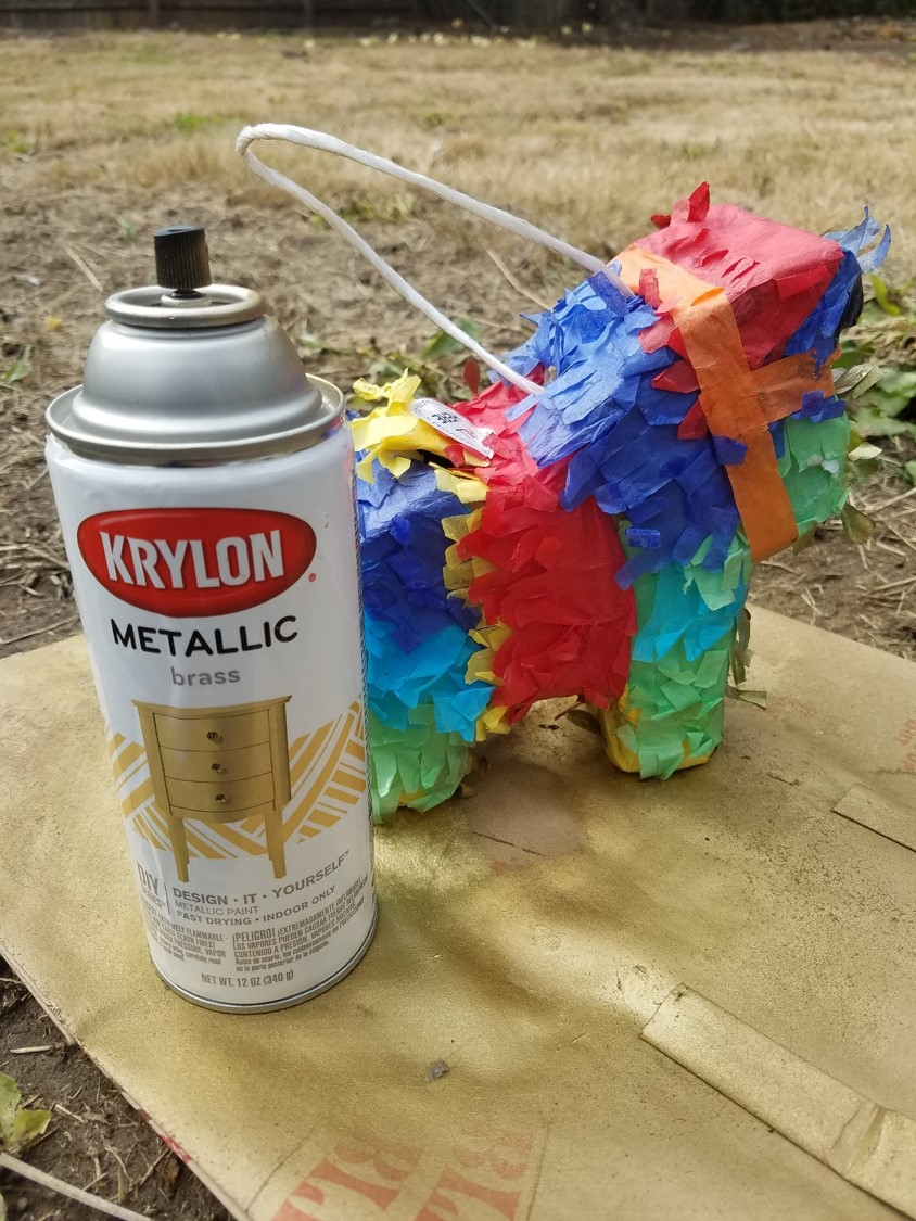 I would like to say that this paint is actually awesome. I have used it for a ton of other projects, it just didn't provide the sheen I wanted for the paper pinata...Love   Krylon Paint   though.