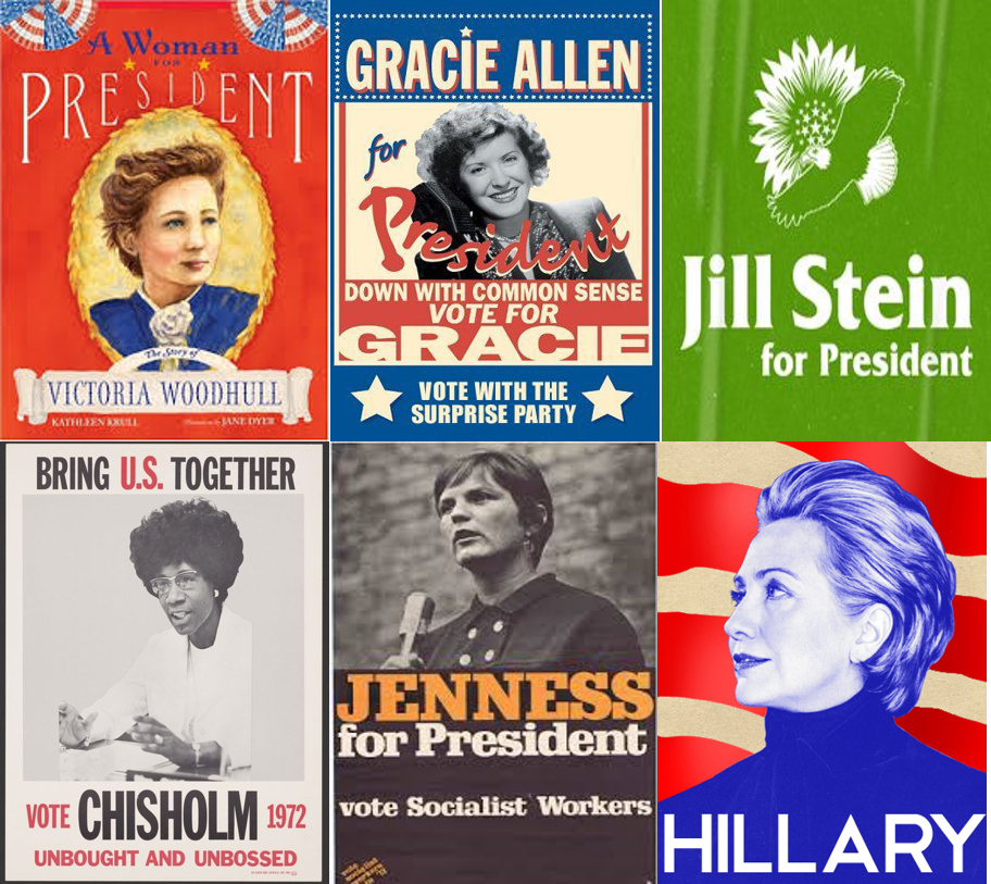 These images came from various sources on line and are not my own. For an article detailing the ladies who fought before this election, checkout this great article from    Time Magazine: 5 Other Women Who Ran For President  or checkout each of their names above to be redirected to some background info on each one of them