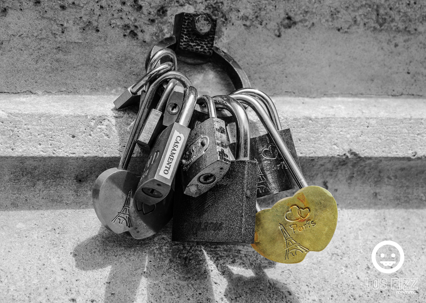 Paris love lock. Photo by LosFizz