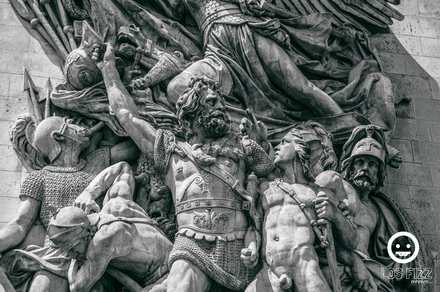 Le Depart de 1792 statue on the Arc De Triomphe in Paris, France. Photo By LosFizz.