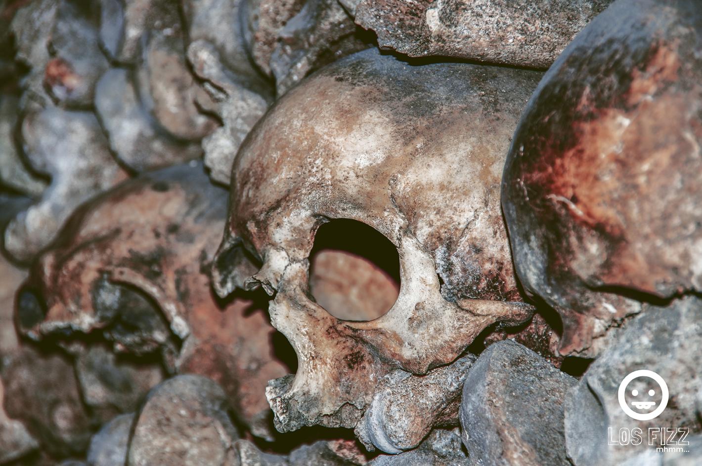 Catacombs skulls in Paris