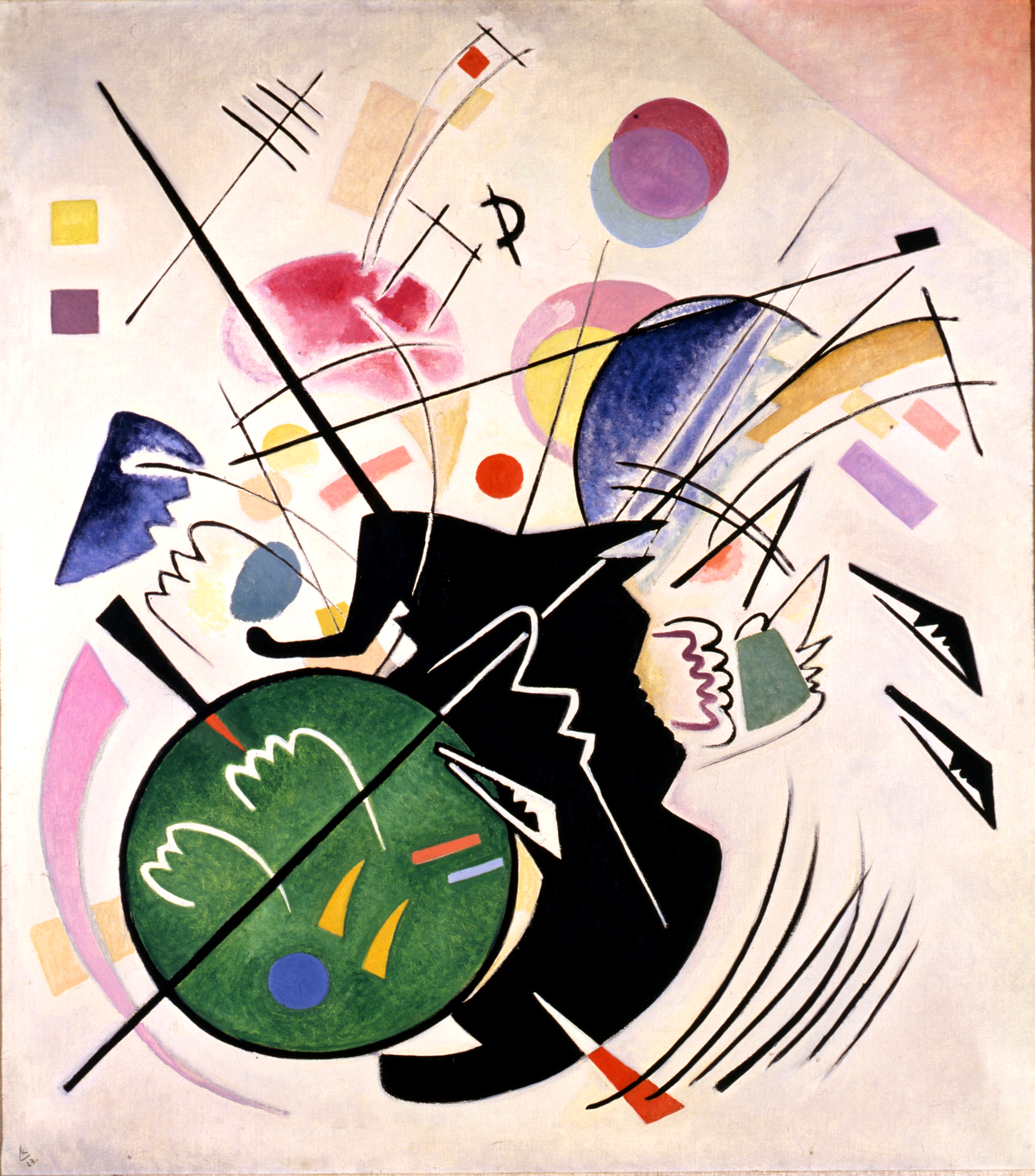 Vasily Kandinsky (1866-1944)  Black Form, 1923  Oil on canvas  110 x 97 cm (43 5/16 x 38 3/16 in.)  Neue Galerie New York. This work is part of the collection of Estée Lauder and was made available through the generosity of Estée Lauder  © 2015 Artists Rights Society (ARS), New York
