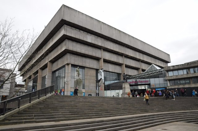 """Birmingham Library (1974). Architect John Madin. Slated for demolition despite its glamours role in BBC's """"The Game""""."""