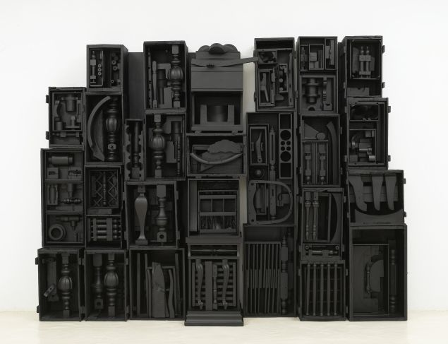 Louise Nevelson - Untitled, 1964. Wood painted black. Courtesy of Pace Gallery.
