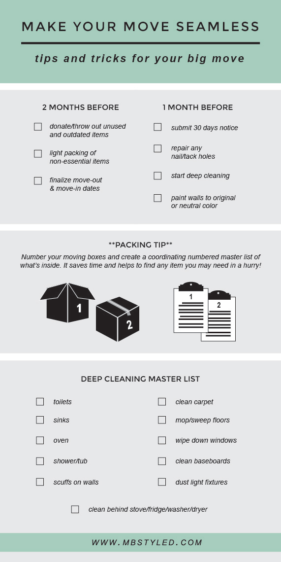 Tips & Tricks for Moving Day from MBSTYLED.COM