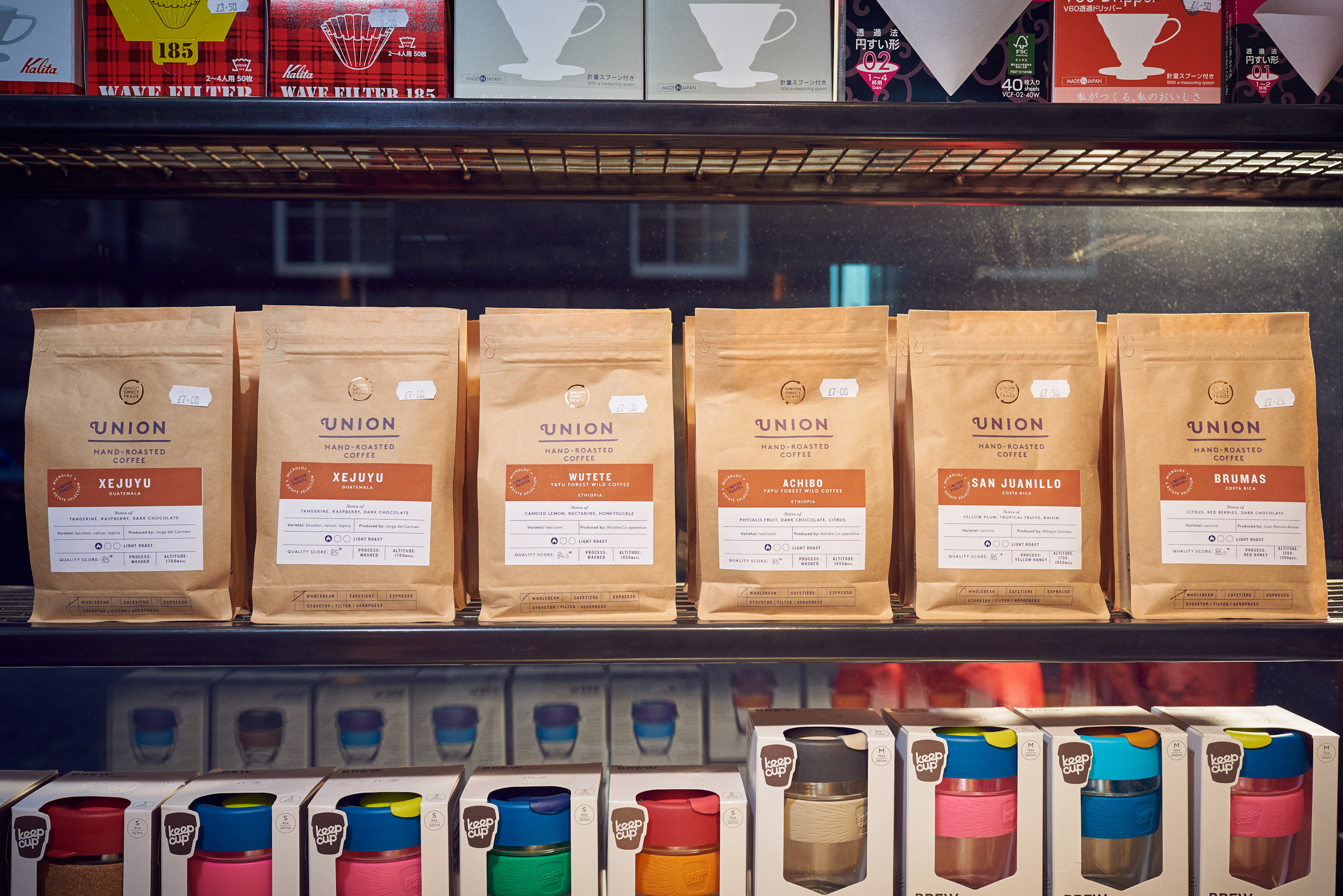 Retail Coffee     From Union Hand-Roasted