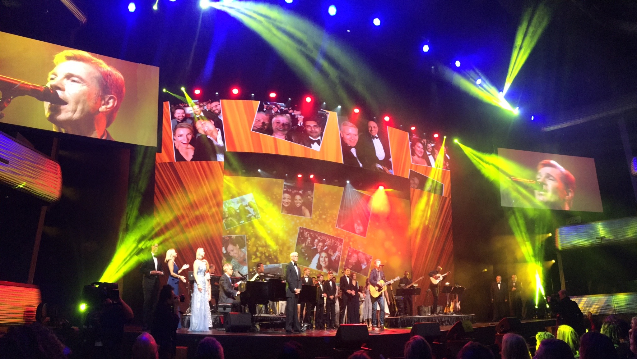 """Lionel performs his song """"By Design"""" with David Foster (on piano) band for the Freeman 90th Anniversary Show in Dallas. Congratulations, Freeman!"""