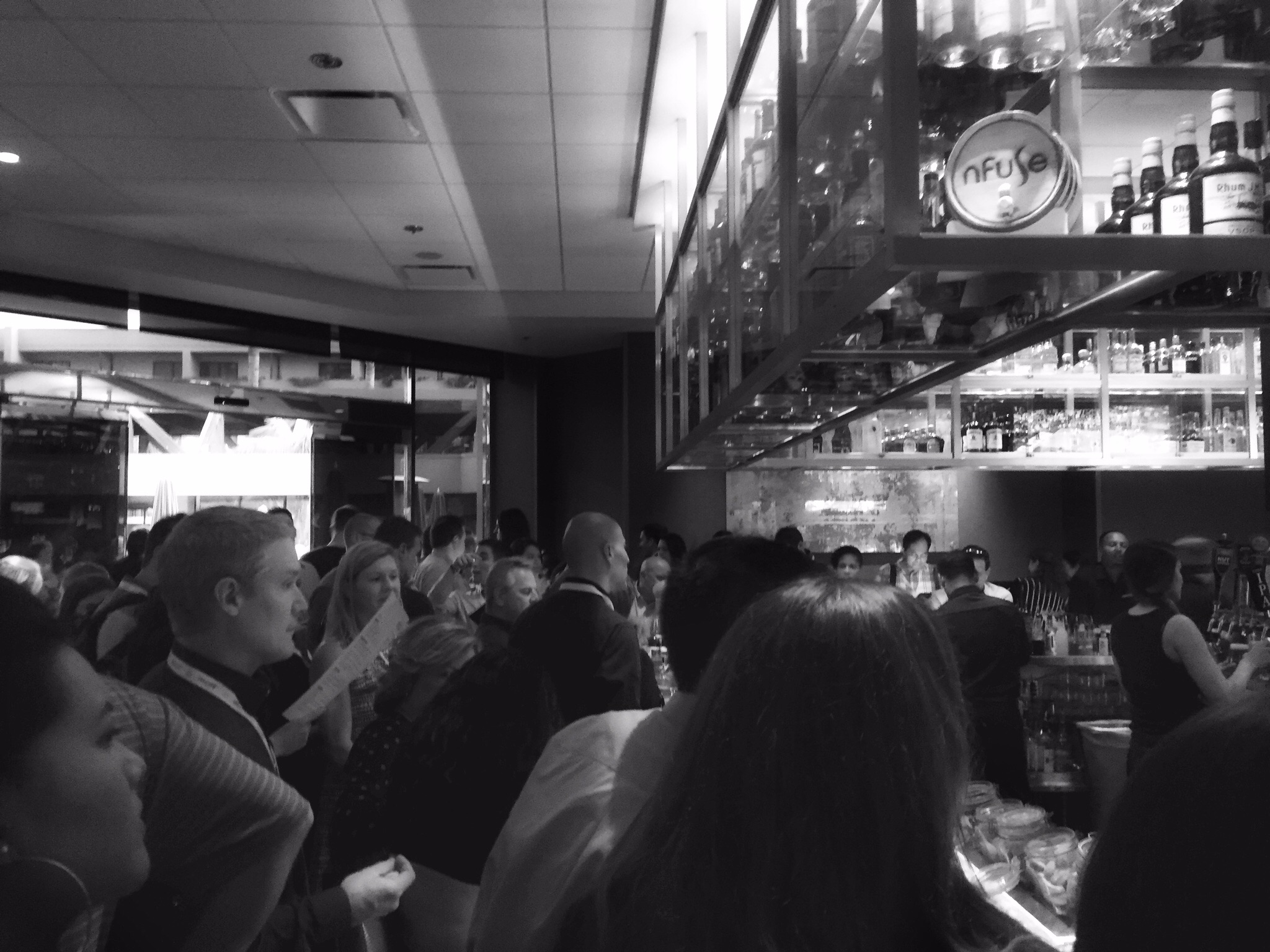 Happy hour was busy. PTs were definitely taking advantage of the day off from the clinic.  Everywhere we looked people were networking and meeting old friends. This,in my opinion, is where our profession gets inspired to get better.